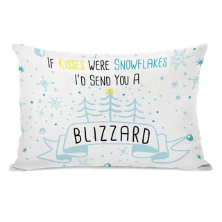 Blizzard Kisses - Multi 14x20 Throw Pillow by OBC - White