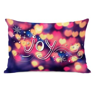 Joy Hearts - Multi 14x20 Throw Pillow by OBC