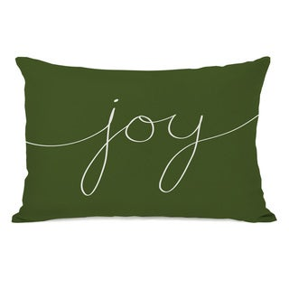 Joy Mix & Match Holiday - Ivory Green 14x20 Throw Pillow by OBC