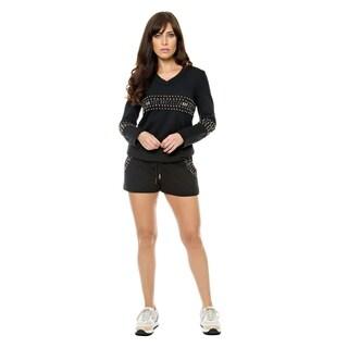 Sara Boo Stud-Embellished 2-piece Sweatsuit