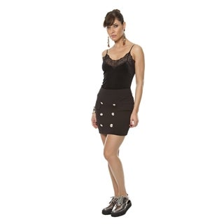 Sara Boo Button Front Skirt
