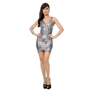 Sara Boo Metallic Foil Bandage Dress (2 options available)