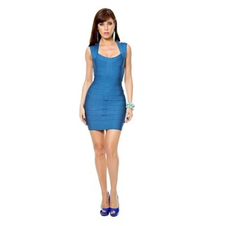 Sara Boo Blue Bandage Dress