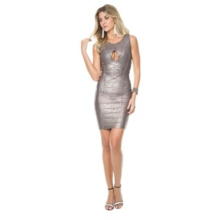 Sara Boo Shimmer Bandage Dress