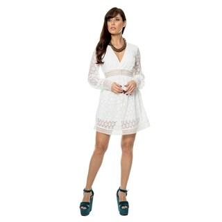Sara Boo Flared Lace Dress