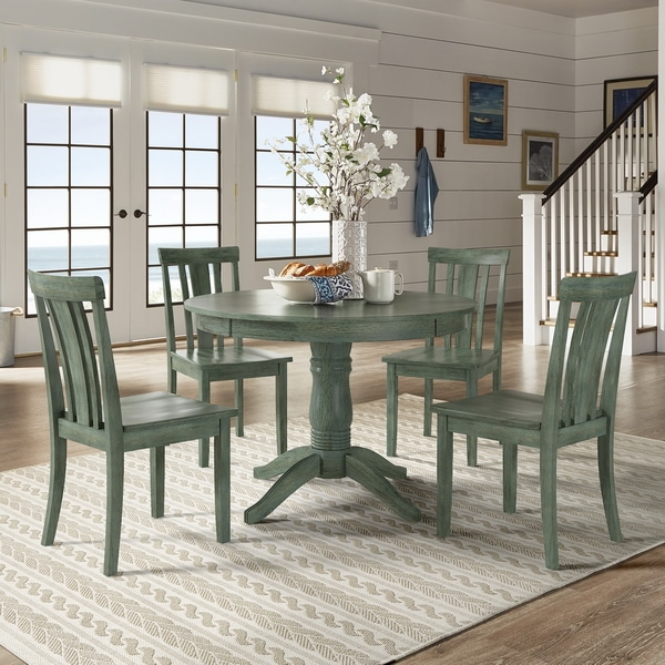 Sage Green Dining Room: Shop Wilmington II Round Pedestal Base Antique Sage Green