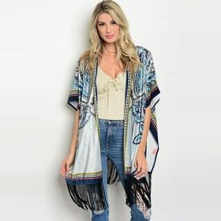 Shop The Trends Women's Short Flutter Sleeve Kimono Cardigan With Fringe On Hem|https://ak1.ostkcdn.com/images/products/18019444/P24188227.jpg?_ostk_perf_=percv&impolicy=medium
