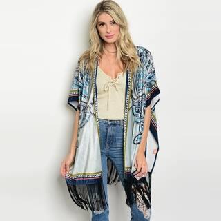 Shop The Trends Women's Short Flutter Sleeve Kimono Cardigan With Fringe On Hem https://ak1.ostkcdn.com/images/products/18019444/P24188227.jpg?impolicy=medium