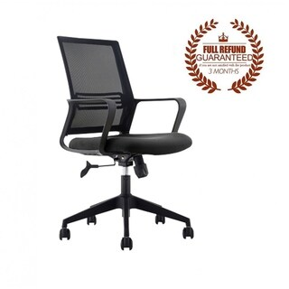 FCD Mesh Mid Back Multi Function Ergonomic Office Chair, Black