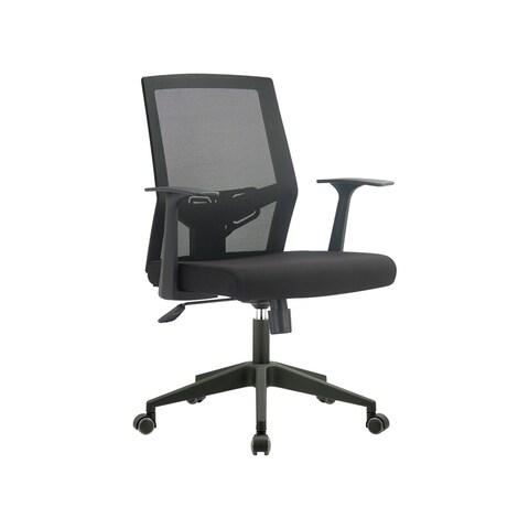 FCD Mid Back Mesh Multi Function Office Ergonomic Chair, Black
