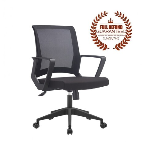 FCD Mid Back Multi Function Mesh Ergonomic Office Chair, Black