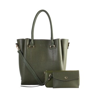 Diophy PU Leather Large Fashion Tote 3 Pieces Set