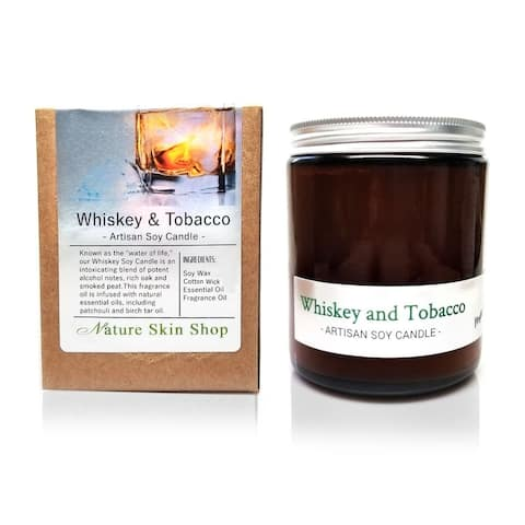 Handmade Whiskey and Tobacco Artisan Soy Candle