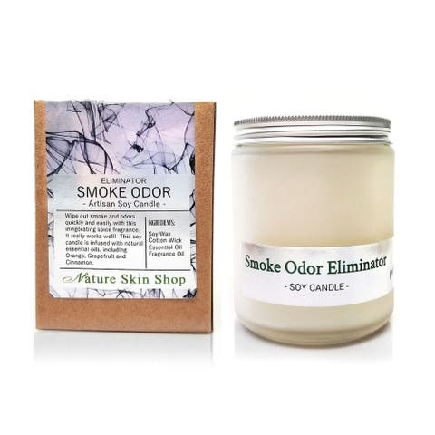 Handmade Smoke and Odor Eliminator Artisan Soy Candle
