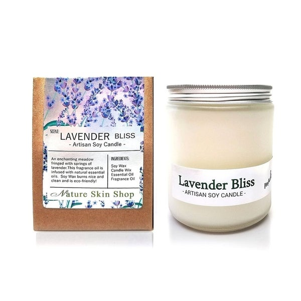 Handmade Lavender Bliss Artisan Soy Candle