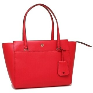 Tory Burch PARKER TOTE Cherry Apple/Royal Navy interior TORY-37744-608