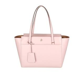 TORY BURCH Parker Leather Tote Pin Quartz/Cardamom interior Tory 37744-673 https://ak1.ostkcdn.com/images/products/18019765/P24188478.jpg?impolicy=medium