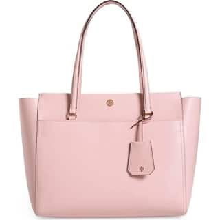 Tory Burch Parker Leather Tote Pink Quart/Cardamom Interior TORY-37169-673 https://ak1.ostkcdn.com/images/products/18019766/P24188479.jpg?impolicy=medium