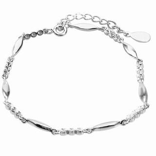 De Buman Sterling Silver Link Bracelet, 8 inches - White