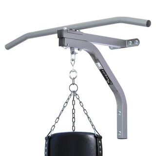 Soozier Wall Mount Heavy Punching Bag Hanger with Pull Up Bar - Silver