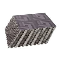 Soozier Interlocking Puzzle Foam Floor Tile Mats - Dark Wood