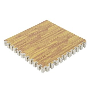 Soozier Interlocking Puzzle Foam Floor Tile Mats - Golden Oak