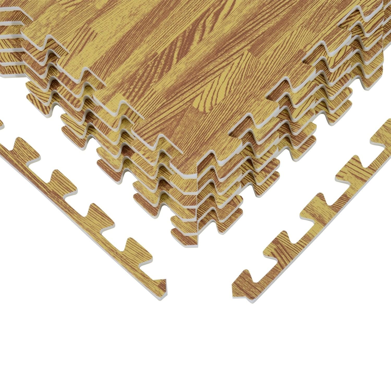 Soozier Interlocking Puzzle Foam Floor Tile Mats - Golden...