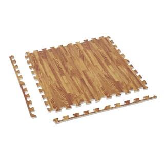 Soozier Interlocking Puzzle Foam Floor Tile Mats - Wood
