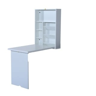HomCom Fold Out Convertible Wall Mount Desk