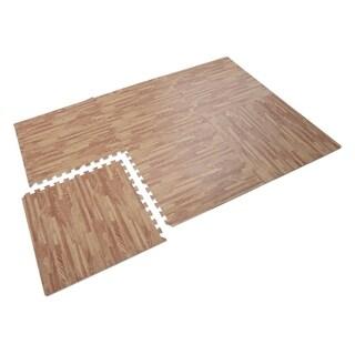 Soozier Interlocking Puzzle Foam Floor Tile Mats - Red Oak