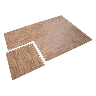 Soozier Interlocking Puzzle Foam Floor Tile Mats - Red Oak