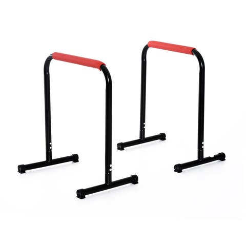 Soozier Parallette Dip Station Bars - Black