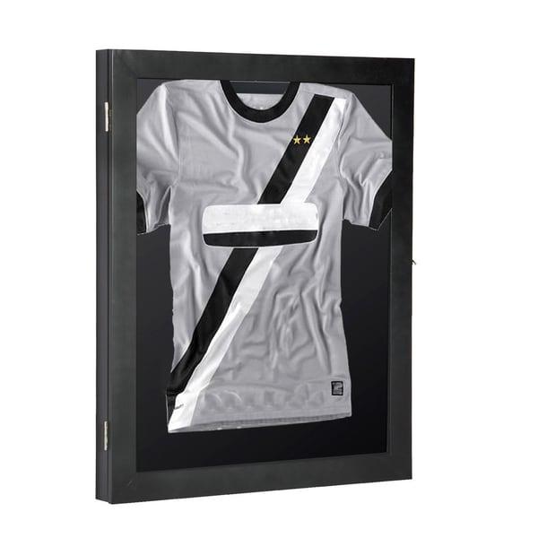 "HOMCOM 32/"" x 24/"" UV-Resistant Sports Jersey Frame Display Case"
