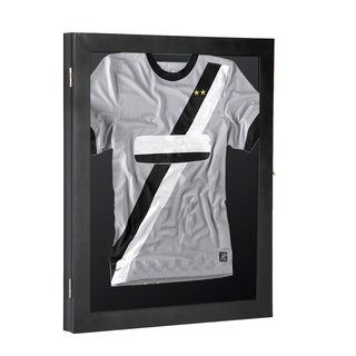 "HomCom 28"" x 35"" Memorabilia / Jersey Display Case Shadow Box - Black"