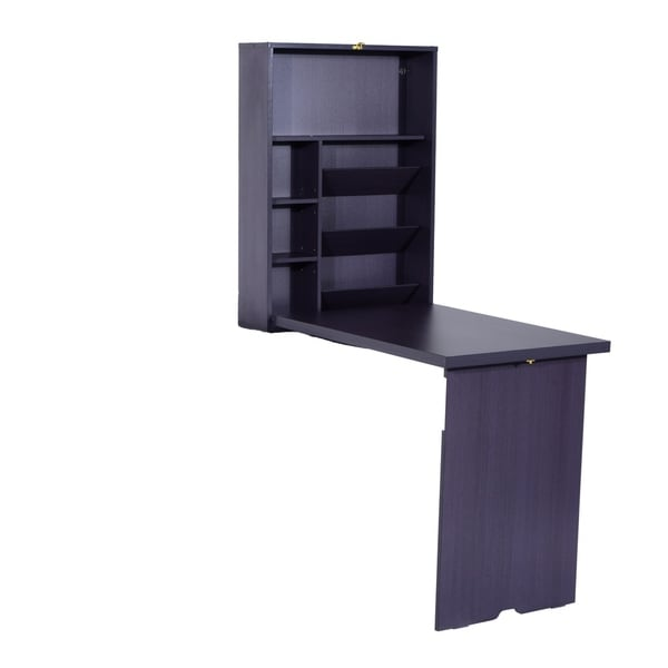 HomCom Fold Out Convertible Wall Mount Desk