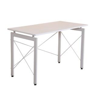 "HomCom 48"" Simple Late Modern Home Office Desk Writing Workstation - White"