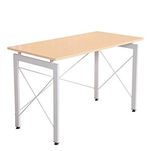 Aosom HomCom Office Workstation Computer Table Desk, Ivor...