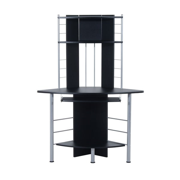 Homcom Arch Tower Corner Computer Desk