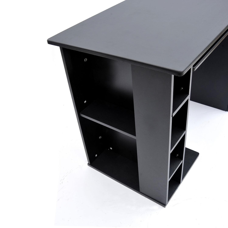 HomCom Small Home Office and Dorm Computer Desk, Black