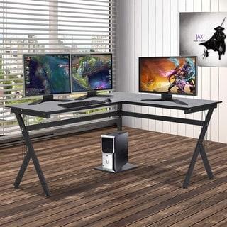 Link to HomCom L-Shaped Office Workstation Computer Desk Similar Items in Desks & Computer Tables