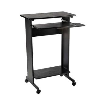 """HomCom 30"""" Mobile Standing Workstation Computer Laptop Desk on Wheels"""