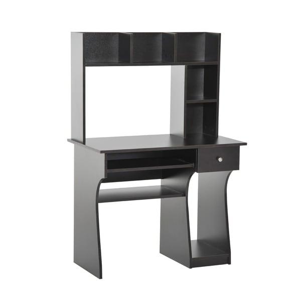 HomCom Home Office Computer Desk with Hutch Bookshelf - Free ...
