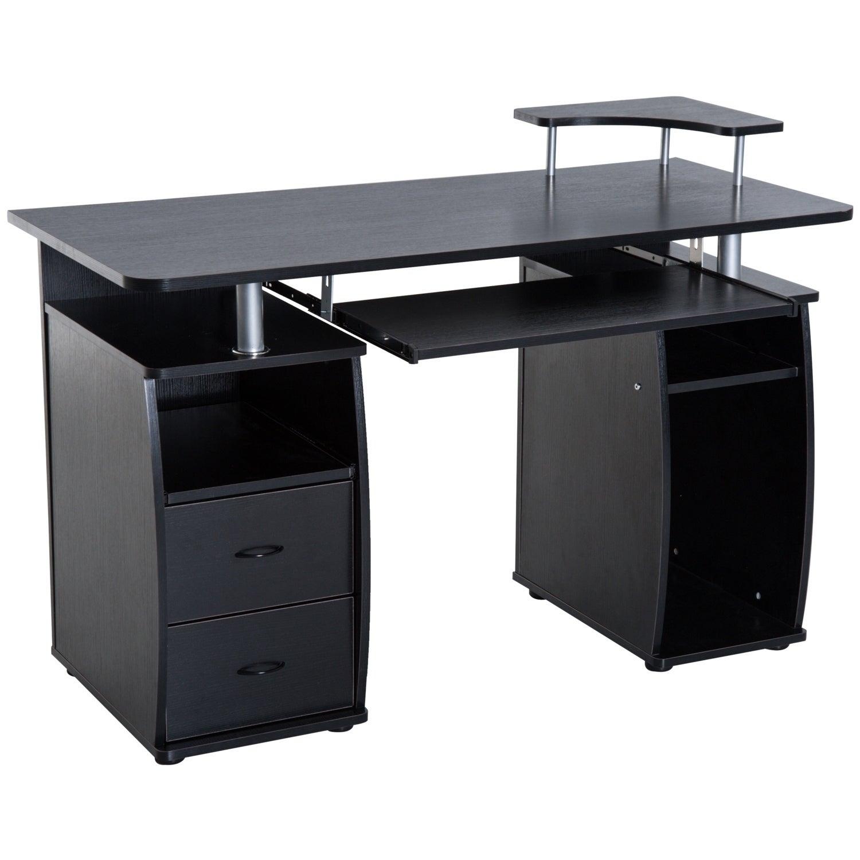 Aosom HomCom Home Office and Dorm Computer Desk with Elev...