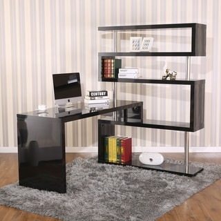 desks for office at home.  For HomCom Rotating Home Office Corner Desk And Shelf Combo Inside Desks For At