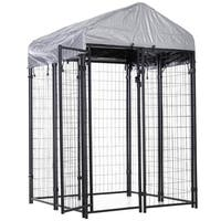 Pawhut Outdoor Covered Dog Box Kennel - 49.5l x 46w x 57.5-72h