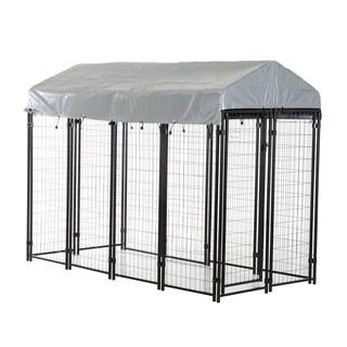 Pawhut Outdoor Covered Dog Box Kennel