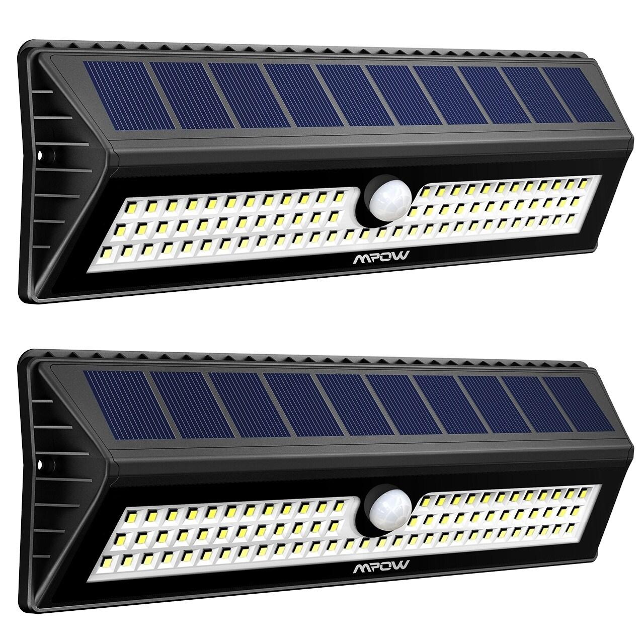 Mpow 77 LED Motion Sensor Solar Light, Bright Wall Light ...