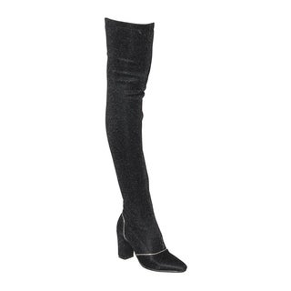 Beston EJ58 Women's Snug Fit Over Knee High Boot Half Size Small