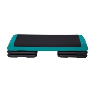 Soozier Adjustable Aerobic Platform Stepper with Risers - Green