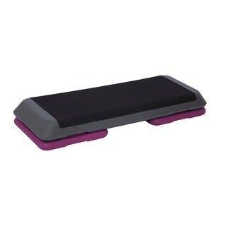 Soozier Adjustable Aerobic Platform Stepper with Risers - Purple